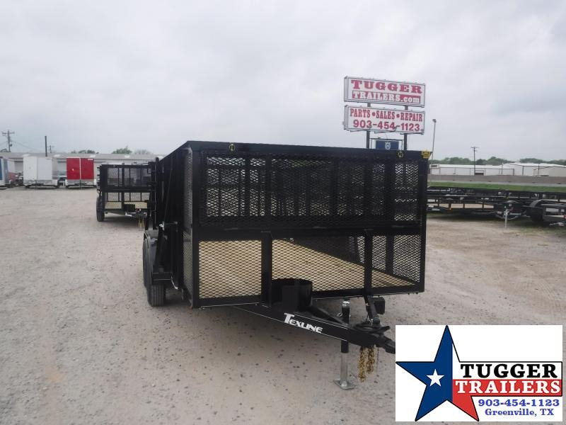 2021 TexLine 83x14 14ft Utility Work Mow Zero Weed Lawn Cage Landscape Trailer
