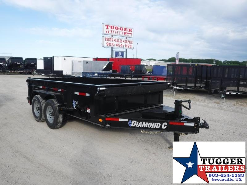 2020 Diamond C Trailers 82x14 14ft Steel Heavy Duty LPD Farm Equipment Dump Trailer