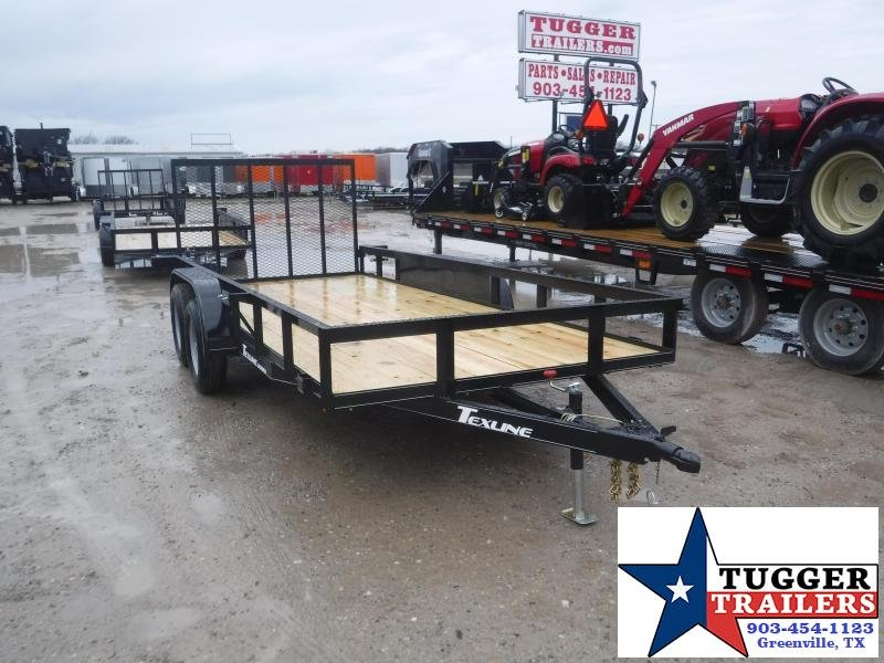 2021 TexLine 77x16 16ft Open Side Toy Work Tool Landscape Move Utility Trailer