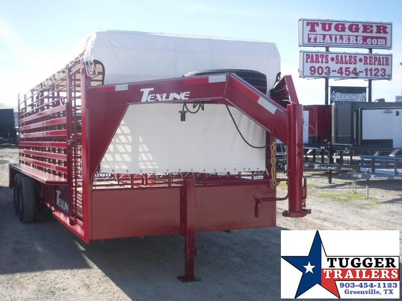 2020 TexLine 80x24 24ft Gooseneck Cattle Farm Cow Horse Goat Livestock Trailer