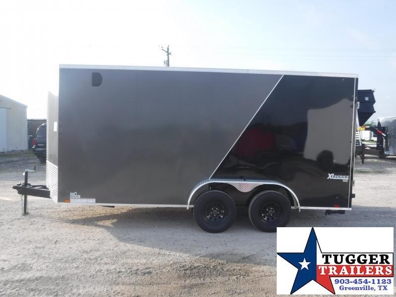 "2021 Cargo Express 7x16 16ft Plus 30"" Slope V-Nose Box Utility Toy Enclosed Cargo Trailer"
