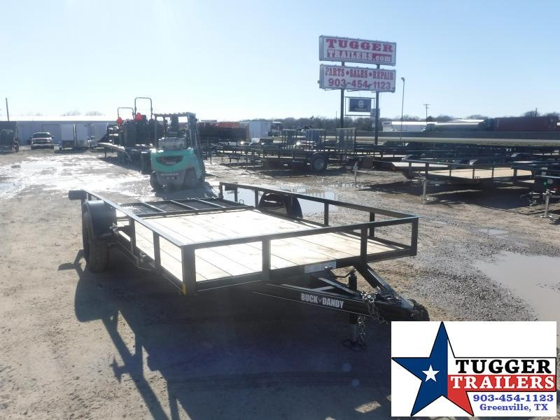 2021 Buck Dandy 83x14 14ft Side Toy Work Open Tool Farm Utility Trailer
