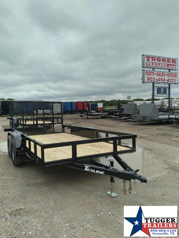 2020 TexLine 77x14 14ft Open Flatbed Toy Side Camp Hunt Move Utility Trailer