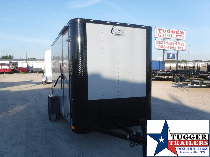 2020 Cargo Craft 6x12 12ft Elite Black Out Utility Sport Work Toy Enclosed Cargo Trailer