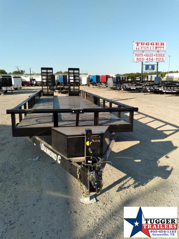 2021 Diamond C Trailers 82x24 24ft EDU Steel Heavy Duty Open Flatbed Lawn Utility Trailer