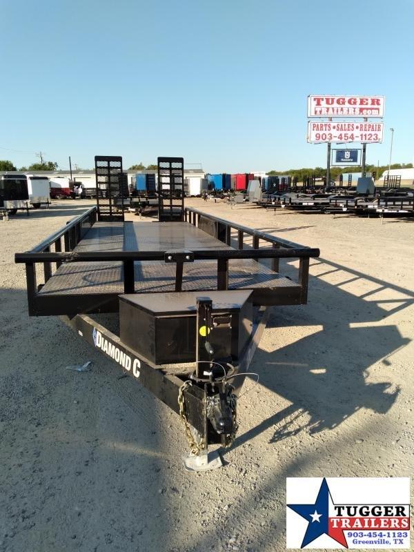 2021 Diamond C Trailers 82x24 24ft EDU Steel Heavy Duty Open Flatbed Lawn Utility Trailer