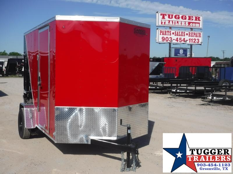 2021 Cargo Express 6x10 10ft V-Nose Utility Box Work Tools Move Bike Enclosed Cargo Trailer