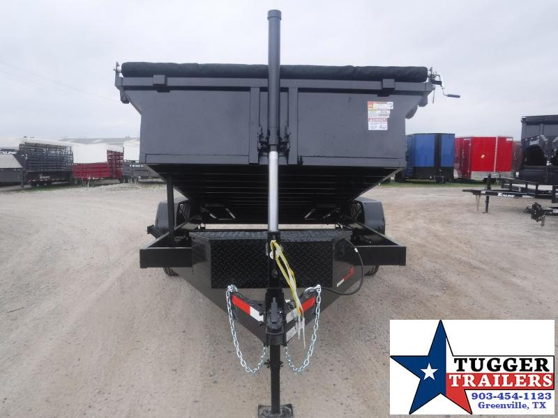 2021 Texas Pride Trailers 7x14 14ft Heavy Duty Work Farm Equipment Rock Dump Trailer