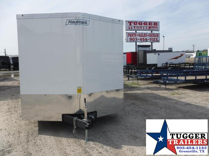 2020 Haulmark 8.5x20 20ft White Transport Ramp Enclosed Cargo Trailer