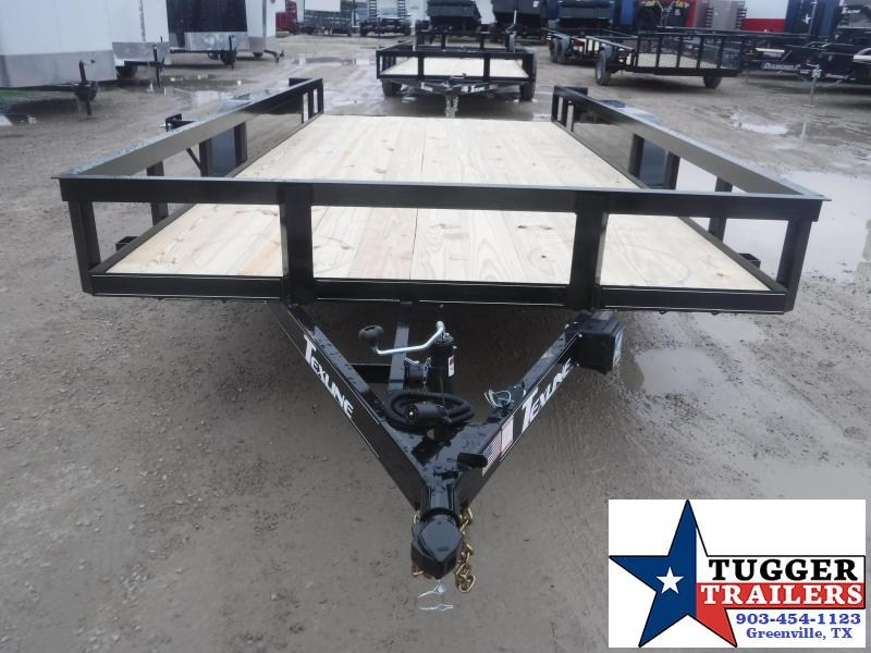 2021 TexLine 83x16 16ft Equipment Work Mow Side Move Travel Utility Trailer