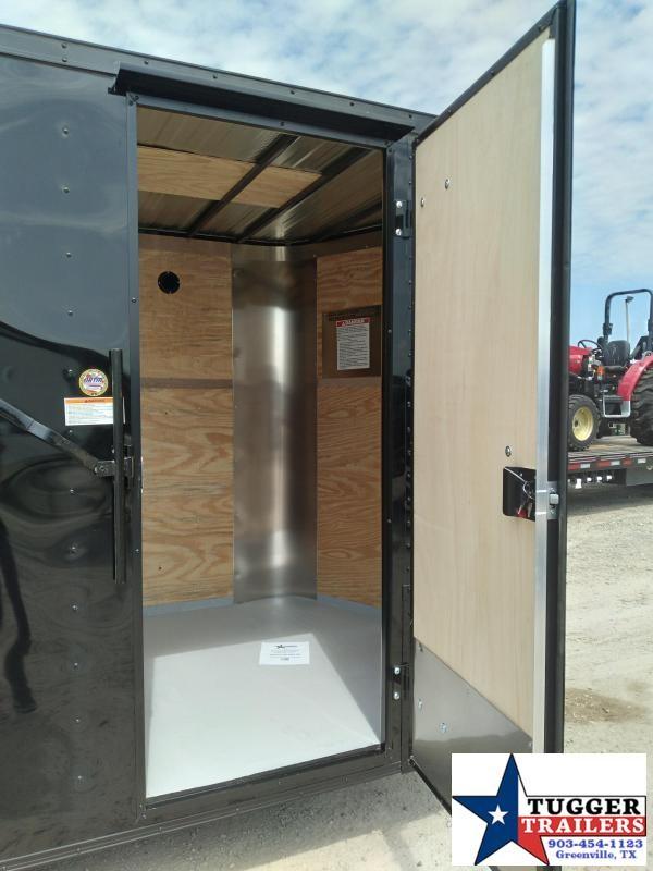 2021 Cargo Craft 6x10 10ft Elite V-Nose Black Out Utility Toy Side Enclosed Cargo Trailer