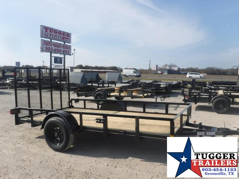 2021 Buck Dandy 77x12 12ft Angle Top Work Landscape Tool Side ATV Utility Trailer