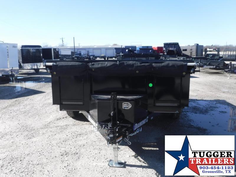 2021 Diamond C Trailers 77x10 10ft EDG Steel Heavy Duty Rock Construction Dump Trailer