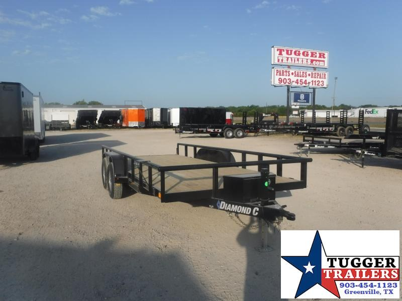 2020 Diamond C Trailers 82x18 18ft Pipe Top Flatbed Farm Side Camp Hunt Utility Trailer