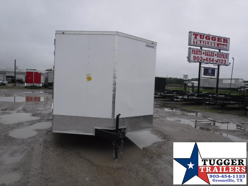 2021 Haulmark 8.5x16 16ft Utility White Work Tool Landscape Mow Enclosed Cargo Trailer