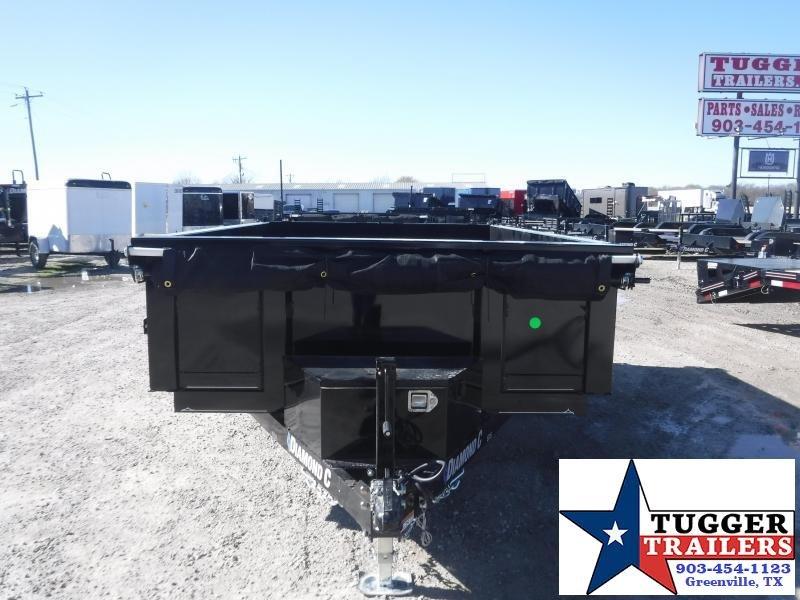 2021 Diamond C Trailers 77x10 10ft Steel Heavy Duty EDS Work Farm Rock Dump Trailer