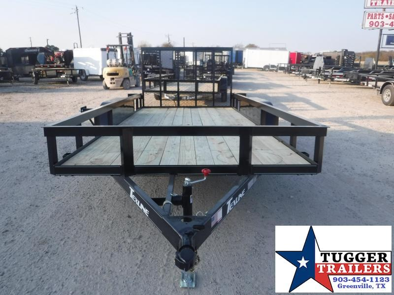 2021 TexLine 77x16 16ft Work Farm Move Travel Toy Side Tool Utility Trailer