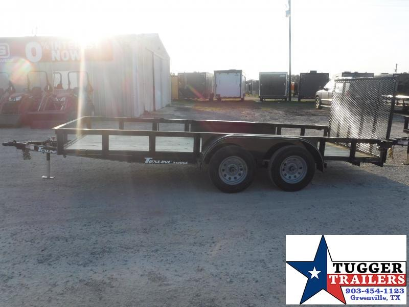 2021 TexLine 77x16 16ft Work Farm Move Travel Toy Side Tool Utility Trailer