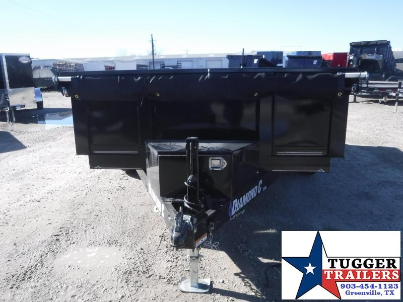 2021 Diamond C Trailers 82x12 12ft EDM Steel Heavy Duty Farm Work Rock Dump Trailer