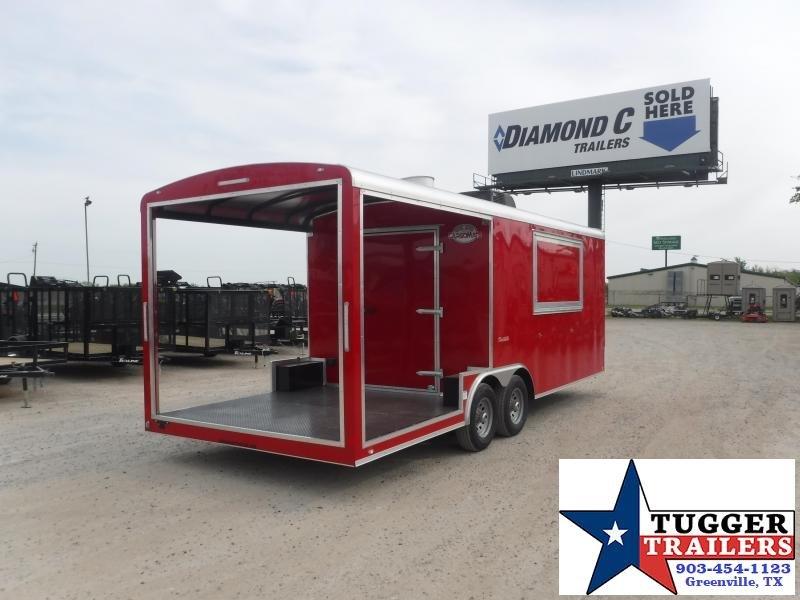 2021 Cargo Mate 8.5x22 22ft Porch BBQ Taco Food Burger Grill Vending / Concession Trailer