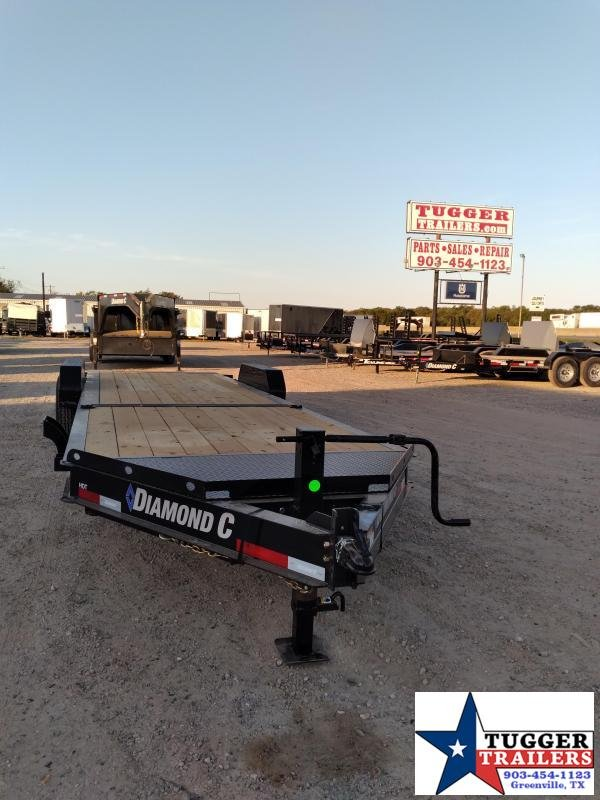 2021 Diamond C Trailers 82x24 24ft Steel Heavy Duty Tilt Flatbed HDT Equipment Trailer