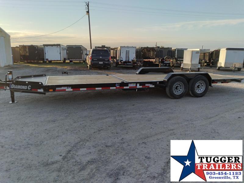 2021 Diamond C Trailers 82x24 24ft Steel Heavy Duty Tilt Flatbed HDT Equipment Trailer