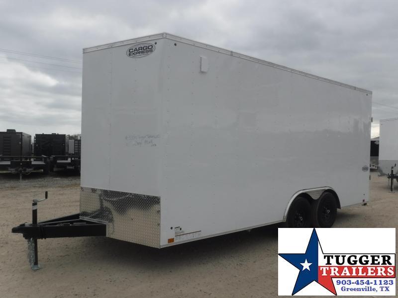 """2021 Cargo Express 8.5x18 18ft Plus 18"""" V-Nose Cargo Enclosed Auto Car / Racing Trailer"""