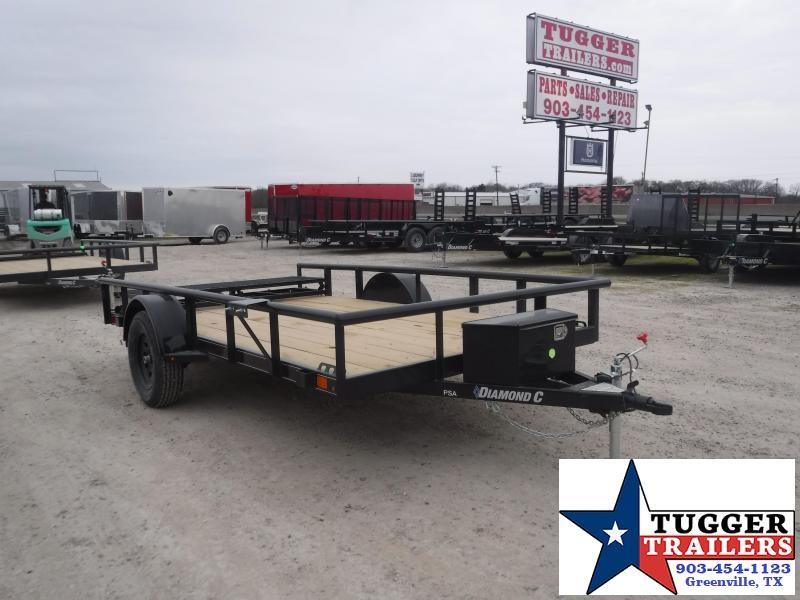 2021 Diamond C Trailers 77x12 12ft PSA Work Mow Side Toy Move Travel Farm Utility Trailer