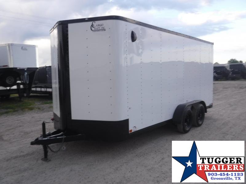 2020 Cargo Craft 7x16 16ft Utility Blackout Ramp Business Tailgate Enclosed Cargo Trailer
