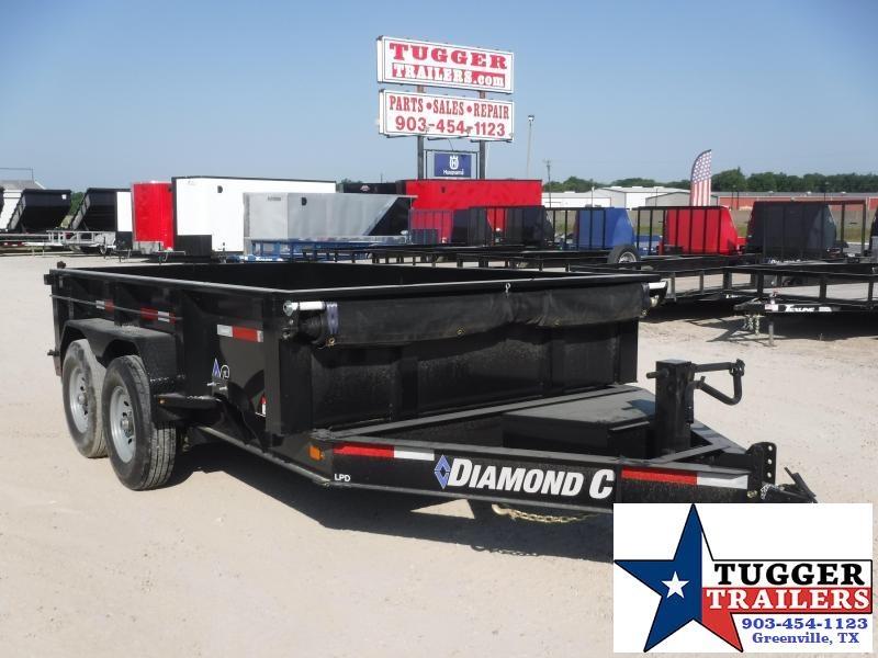 2020 Diamond C Trailers 82x12 12ft Steel Heavy Duty Construction Farm Dump Trailer