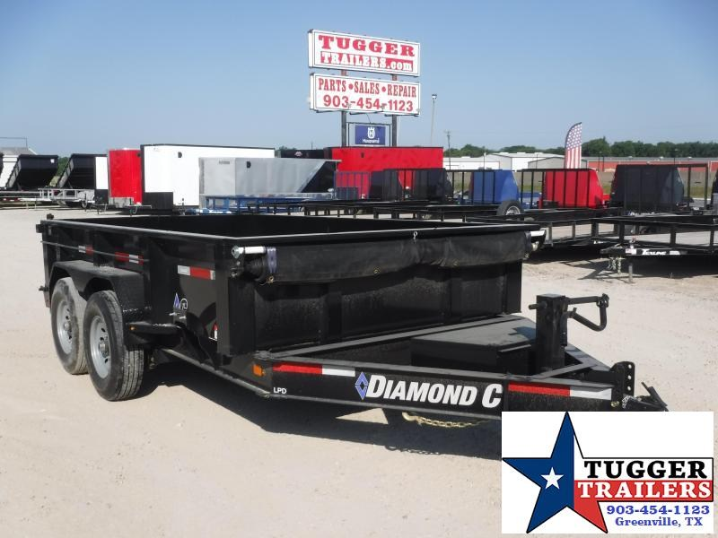 2020 Diamond C Trailers 82x12 12ft Steel Heavy Duty Construction Farm Dump Trailer