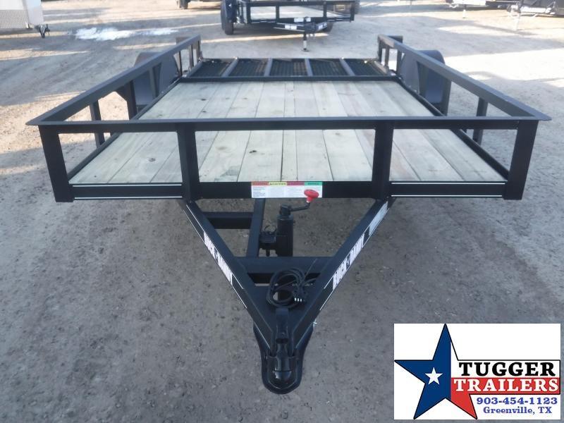 2021 Buck Dandy 77x12 12ft Open Toy Side Work Tool Farm Lawn ATV Utility Trailer
