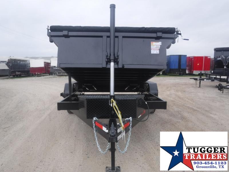 2021 Texas Pride Trailers 7x14 14ft Steel Utility Farm Rock Equipment Dump Trailer