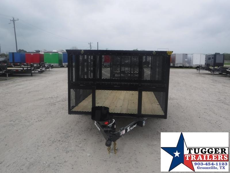 2021 TexLine 83x16 16ft Tool Wok Mow Landscape Side Equipment Landscape Trailer