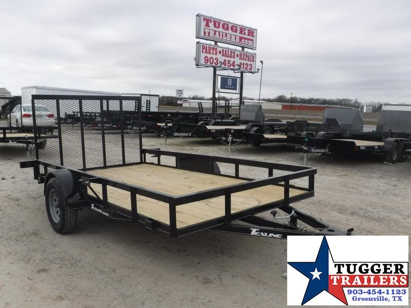 2021 TexLine 77x12 12ft Open Toy Side Work Mow Move Camp Hunt Utility Trailer