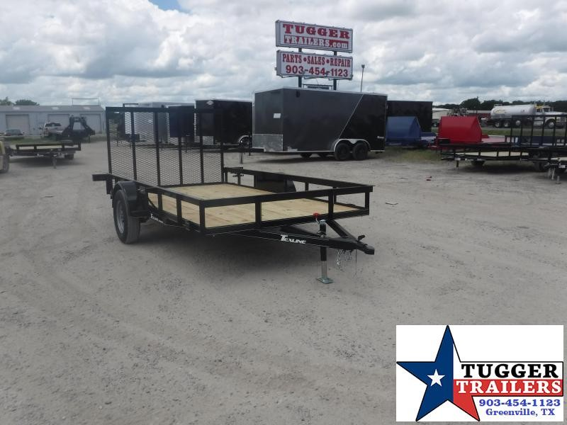 2020 TexLine 77x12 12ft Flatbed Gate Top Rail Toy Equipment Utility Trailer