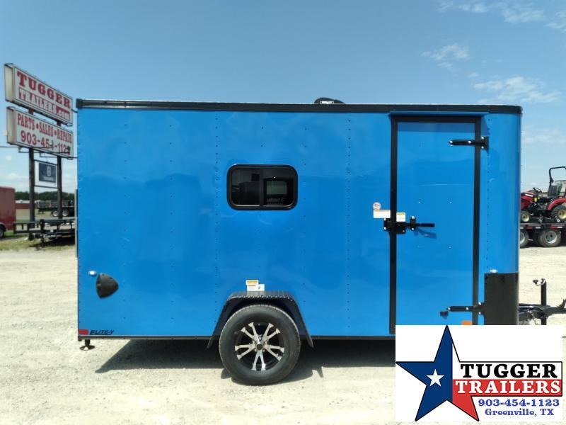 2021 Cargo Craft 6x12 12ft Elite Black Out Utility Toy Side Work Enclosed Cargo Trailer