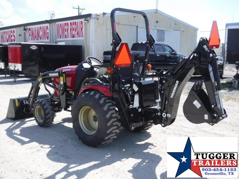 "2020 Yanmar SA 424 DIESEL Tractor With Backhoe and 12"" Bucket"