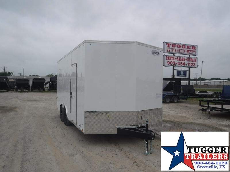 "2021 Cargo Express 8.5x18 18ft 18"" V-Nose Box Utility Toy Work Side Enclosed Cargo Trailer"
