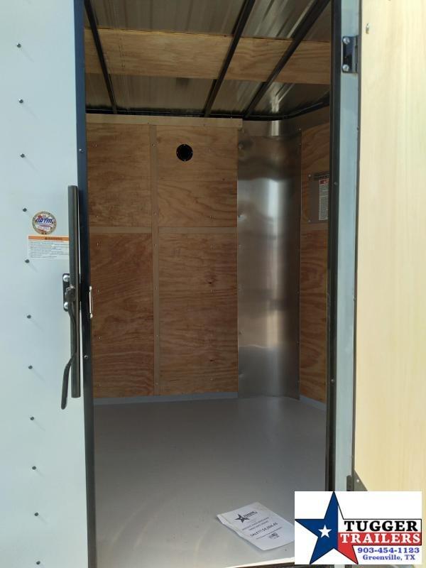 2021 Cargo Craft 6x10 10ft Elite V-Nose Black Out Utility Toy Enclosed Cargo Trailer
