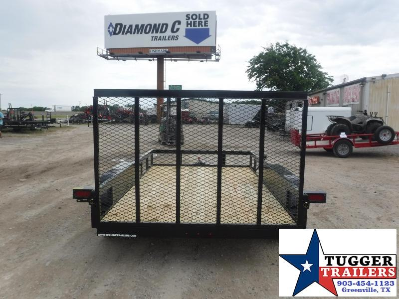 2020 TexLine 77x12 12ft Flatbed Side Toy Camp Move Travel Work Utility Trailer