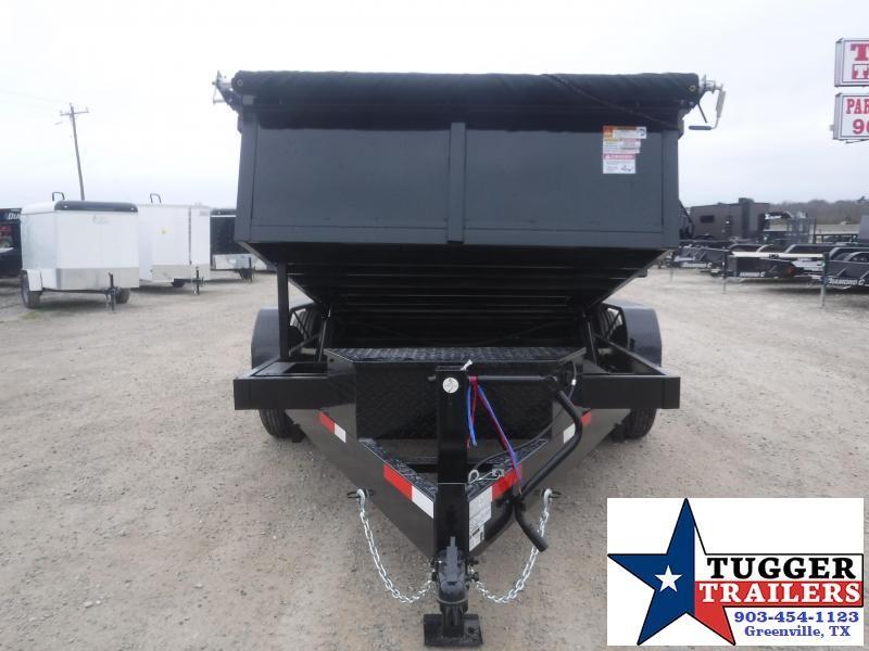 2021 Texas Pride Trailers 7x12 12ft Steel Construction Rock Farm Tool Work Dump Trailer