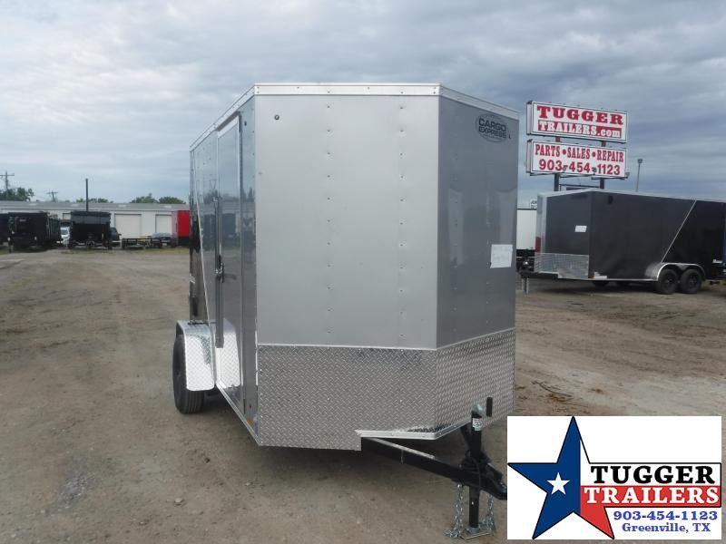 2021 Cargo Express 6x10 10ft V-Nose Utility Sport Band Tailgate Box Enclosed Cargo Trailer