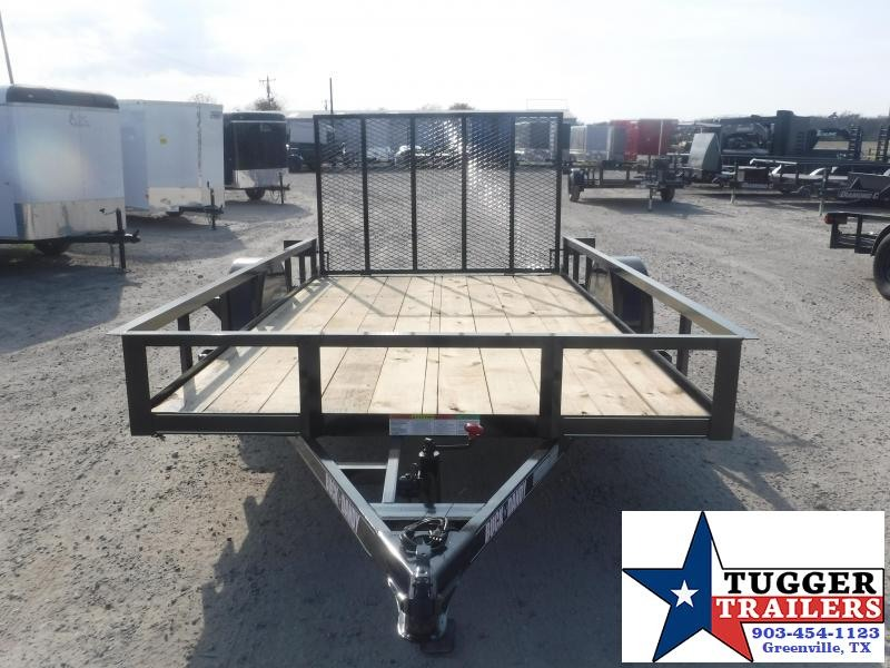 2021 Buck Dandy 77x12 12ft Flat Bed Equipment Tool Work Play Tool Utility Trailer