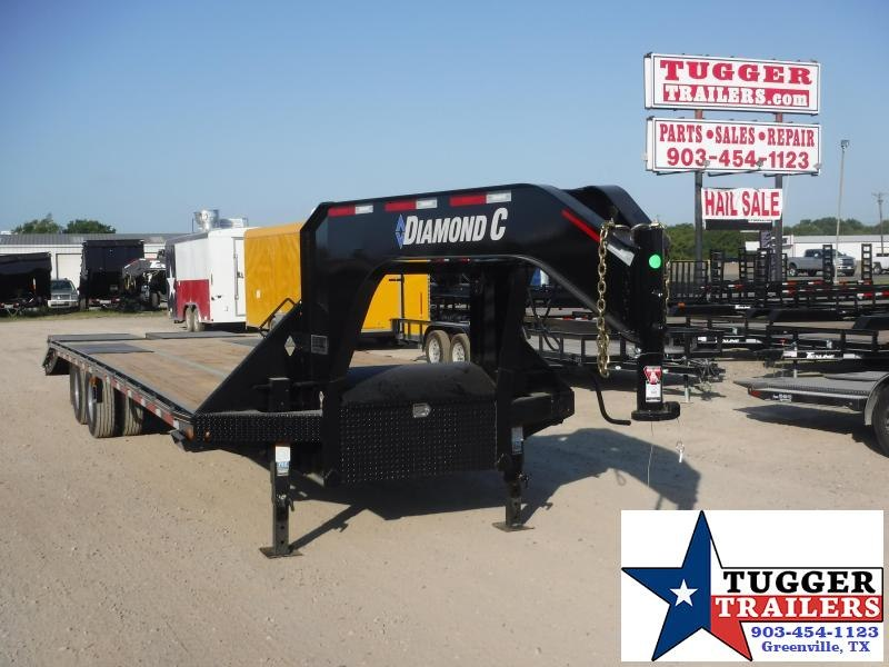 2019 Diamond C Trailers 102x32 32ft FMAX210 Open Gooseneck Flatbed Utility Trailer