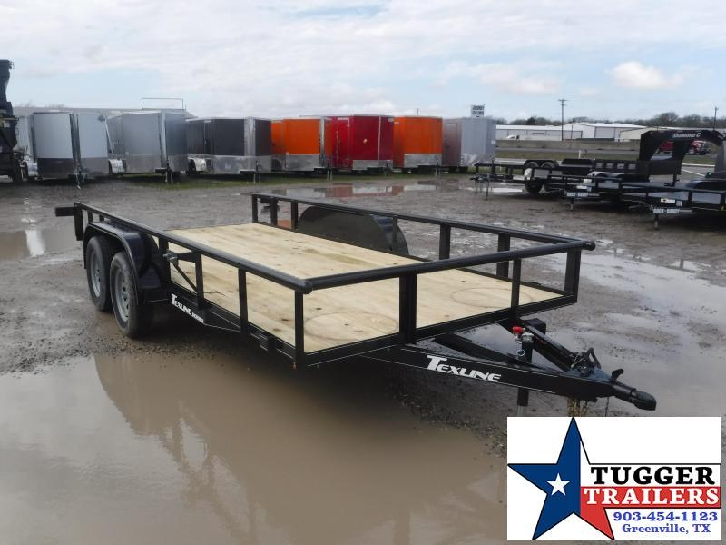 2021 TexLine 83x16 16ft Open Side Work Tool Equipment Mow Move Utility Trailer