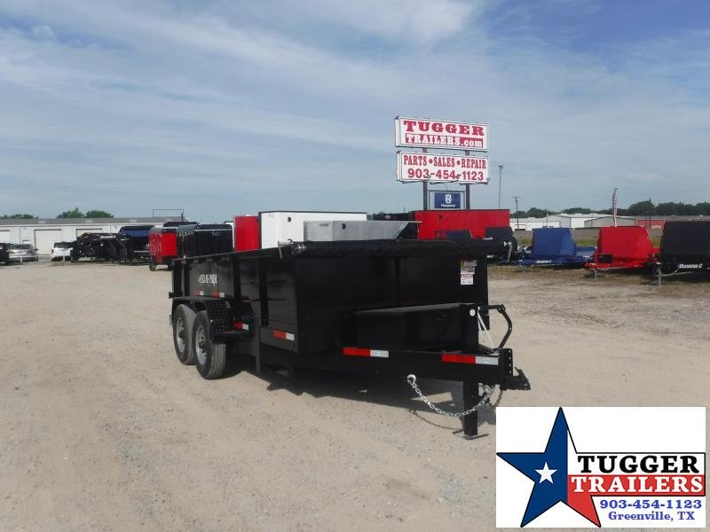 2020 Texas Pride Trailers 7x14 14ft Contractor Steel Heavy Duty Work Lawn Dump Trailer