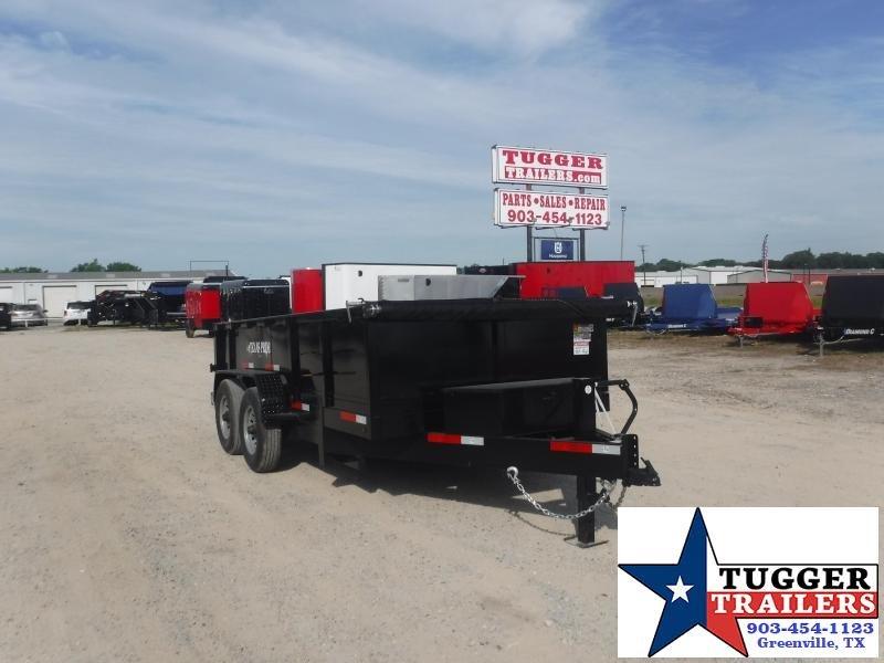 2020 Texas Pride Trailers 7x14 14ft Contractor Steel Heavy Duty Work Lawn Dump Trailer
