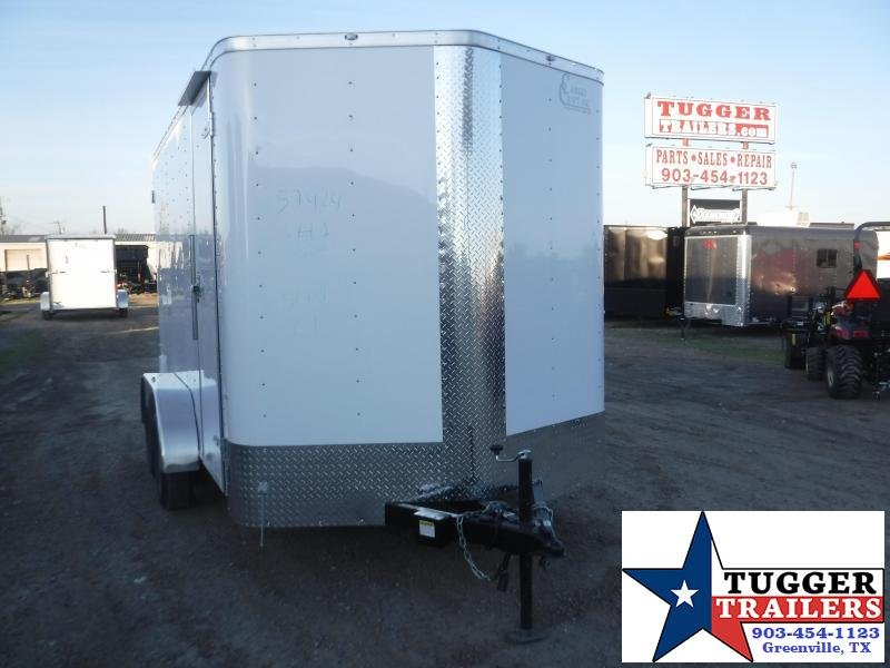 2020 Cargo Craft 7x14 14ft Utility White Sport Band Move Toy Enclosed Cargo Trailer