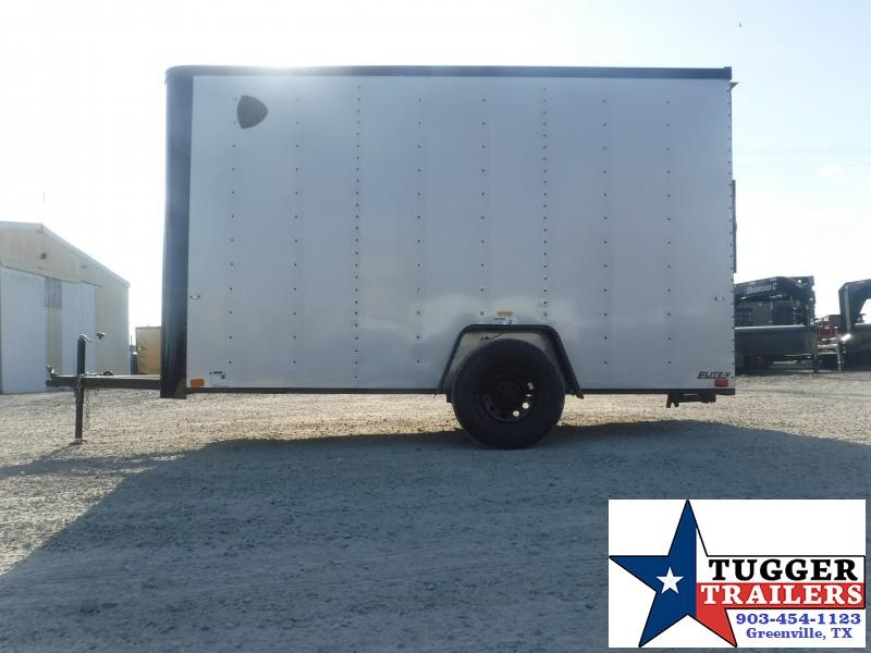 2021 Cargo Craft 6x12 12ft Utility Elite Flat Nose Black Out Work Enclosed Cargo Trailer